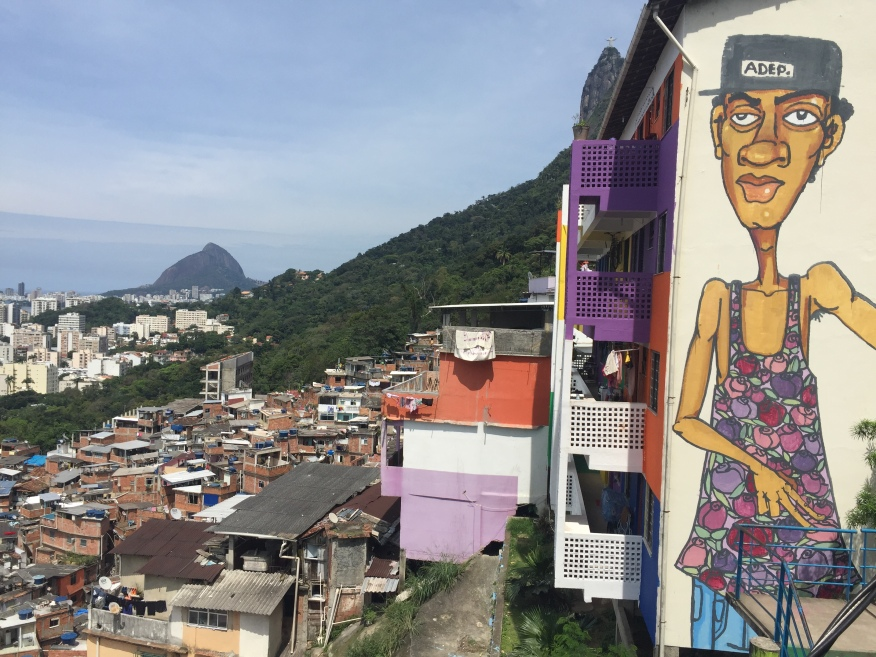 Expressão na favela de Santa Marta, Rio de Janeiro